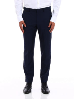 Prada: Tailored & Formal trousers online - Wool and mohair blend trousers