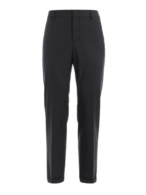 Prada: Tailored & Formal trousers - Techno stretch fabric trousers
