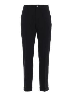 PRADA: Pantaloni sartoriali - Pantaloni in lana stretch con risvolti