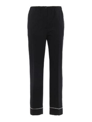 Prada: Tailored & Formal trousers - Wool crepe pyjama trousers