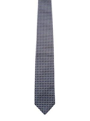 Prada: ties & bow ties - Micro pattern silk tie