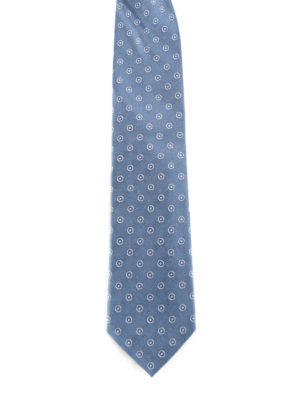 Prada: ties & bow ties - Micro patterned silk tie