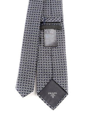 Prada: ties & bow ties online - Micro pattern silk tie