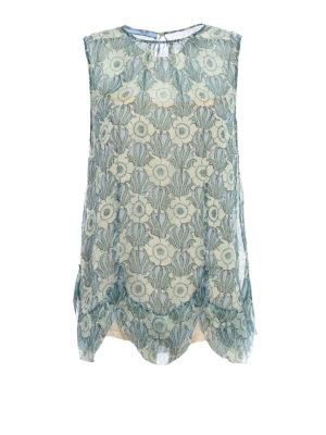 Prada: Tops & Tank tops - Chiffon Jasmine scalloped silk top