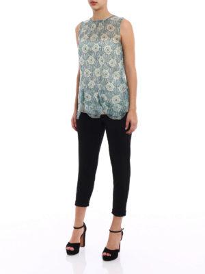 Prada: Tops & Tank tops online - Chiffon Jasmine scalloped silk top