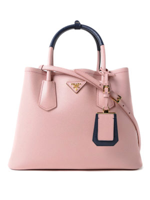 Prada: totes bags - Double pink saffiano leather bag