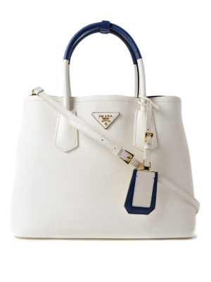 Prada: totes bags - Double saffiano leather bag