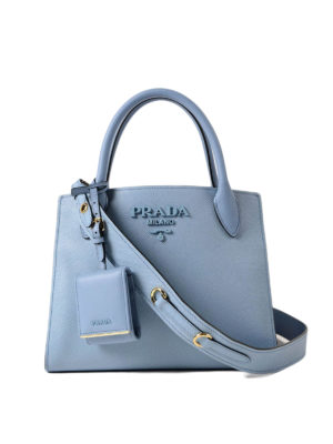 Prada: totes bags - Monochrome saffiano leather bag