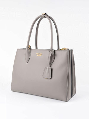 Prada: totes bags online - Bibliotèque smooth leather handbag