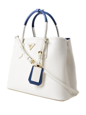 Prada: totes bags online - Double saffiano leather bag