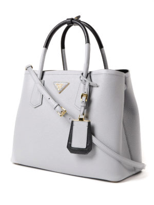 Prada: totes bags online - Double saffiano leather tote