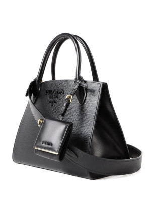 Prada: totes bags online - Monochrome leather bag