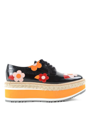 Prada: trainers - Brogues with flower applications
