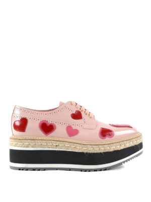 Prada: trainers - Brogues with heart applications