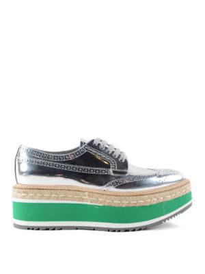 Prada: trainers - Calf leather brogue shoes