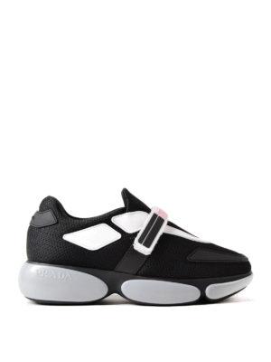 Prada: trainers - Cloudburst mesh fabric sneakers