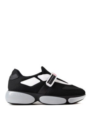Prada: trainers - Cloudbust knitted fabric sneakers
