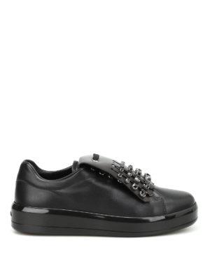 Prada: trainers - Embellished fringe sneakers
