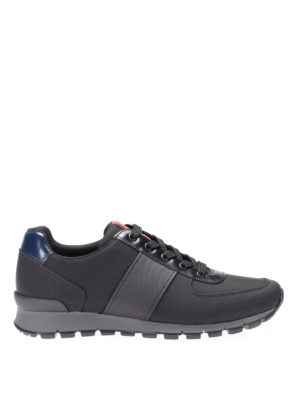 Prada: trainers - Fabric sneakers with leather band