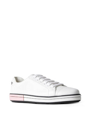 Prada: trainers online - Bicolour sole leather sneakers