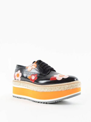 Prada: trainers online - Brogues with flower applications