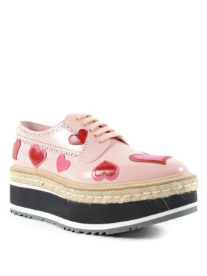 Prada: trainers online - Brogues with heart applications