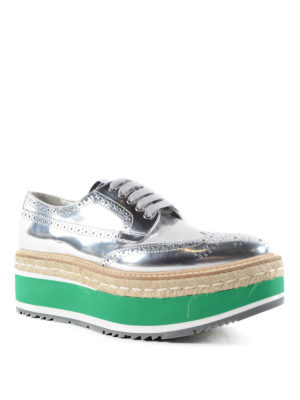 Prada: trainers online - Calf leather brogue shoes