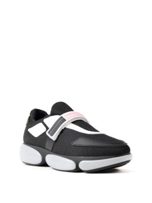 Prada: trainers online - Cloudburst mesh fabric sneakers