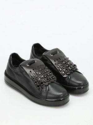 Prada: trainers online - Embellished fringe sneakers