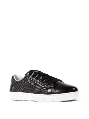 Prada: trainers online - Quilted napa black sneakers