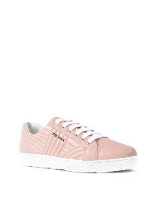 Prada: trainers online - Quilted napa orchidea sneakers