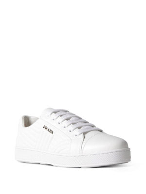 Prada: trainers online - Quilted nappa sneakers