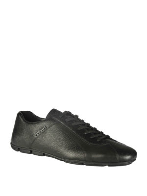 Prada: trainers online - SAFFIANO LEATHER SNEAKERS
