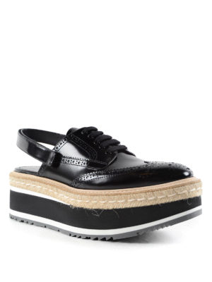 Prada: trainers online - Slingback brogue shoes