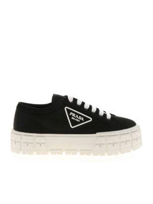 PRADA: trainers - Platform sneakers in black