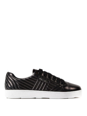 Prada: trainers - Quilted napa black sneakers