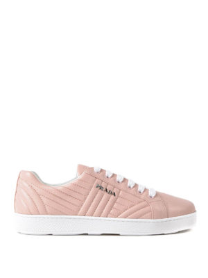 Prada: trainers - Quilted napa orchidea sneakers