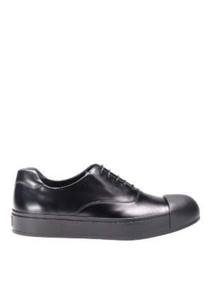 Prada: trainers - Rois brushed calfskin sneakers