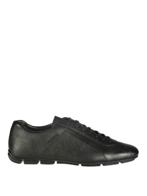 Prada: trainers - SAFFIANO LEATHER SNEAKERS