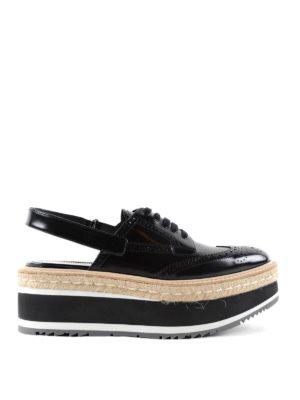 Prada: trainers - Slingback brogue shoes