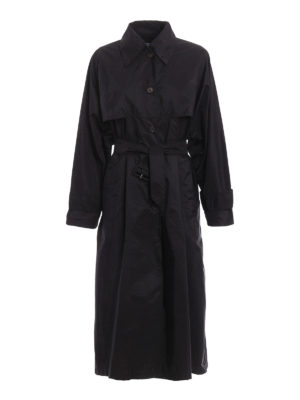 Prada: trench coats - Nylon long trench