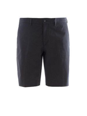 Prada: Trousers Shorts - Dark blue cotton blend chino shorts