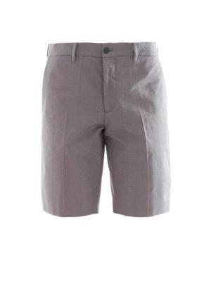 Prada: Trousers Shorts - Grey cotton blend chino shorts