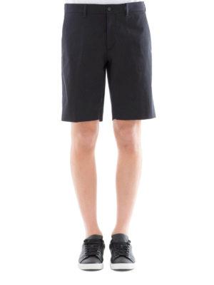 Prada: Trousers Shorts online - Dark blue cotton blend chino shorts