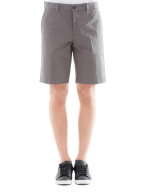 Prada: Trousers Shorts online - Grey cotton blend chino shorts