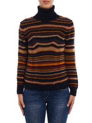 Prada: Turtlenecks & Polo necks online - Multicolour striped wool turtleneck