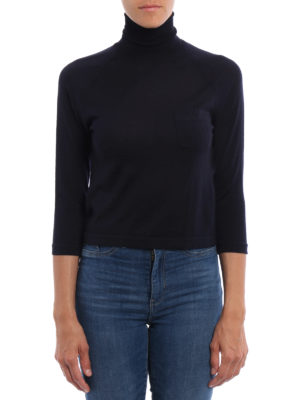 Prada: Turtlenecks & Polo necks online - Pure wool crop turtleneck