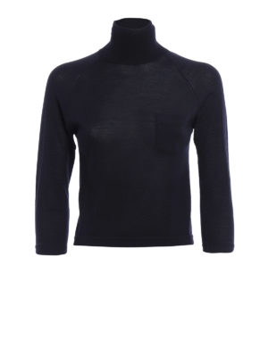 Prada: Turtlenecks & Polo necks - Pure wool crop turtleneck