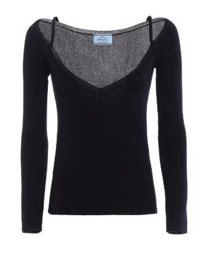 Prada: v necks - Cashmere and silk slim V-neck