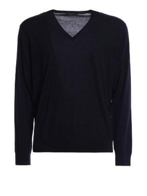 Prada: v necks - Combed wool V-neck pullover